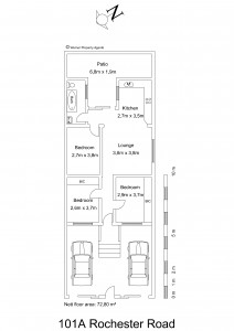 Floor plan - 101A. Rochester Road